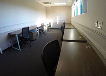 Private workstations at Silicon Valley Business Center